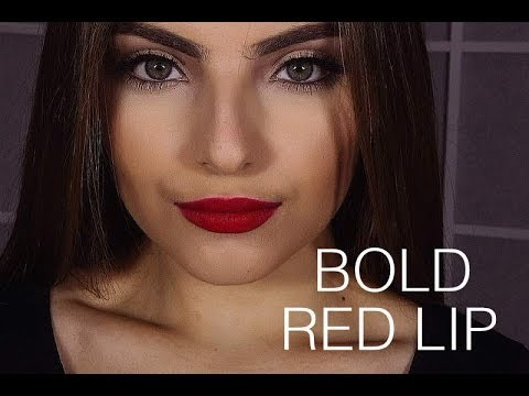 Bold Red Lip Makeup Tutorial