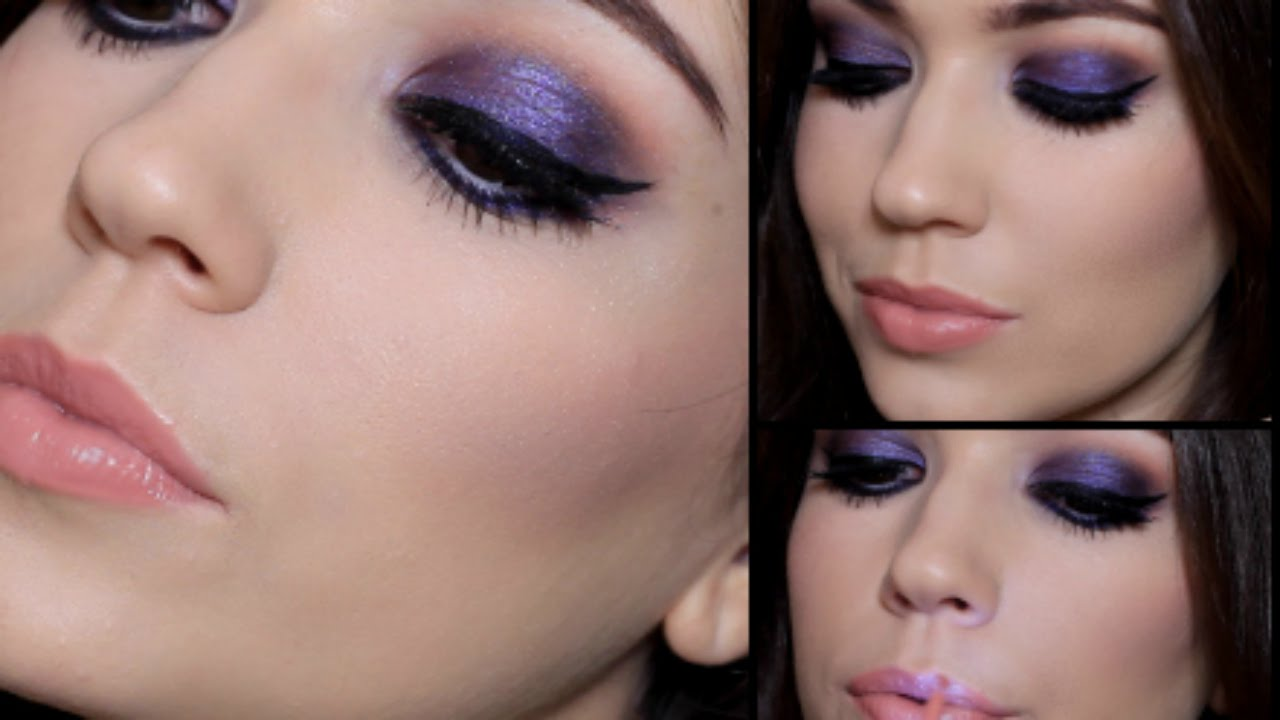 Purple Party Makeup Tutorial | Giveaway