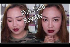 BROWN SMOKEY EYES + RED LIPS   Full Face Review