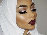 Brown smokey eye with a red lip | Sabina Hannan