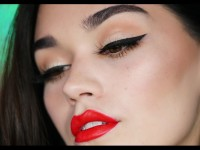 Classic Red Lip💋and Black Liner makeup tutorial