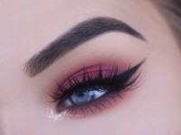 Fall Red/Cranberry Eye Makeup Tutorial