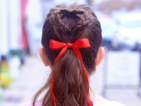 How to Create a DOUBLE HEART PONYTAIL | Valentine's Day Hairstyles
