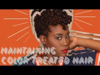 Maintaining Color Treated Short Natural Hair using Uncle Funkys Daughter